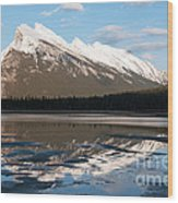 Mount Rundle Reflections Wood Print