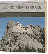 Mount Rushmore 3 Wood Print