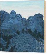 Mount Rushmore Blues Wood Print