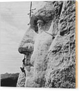 Mount Rushmore Construction Photo Wood Print