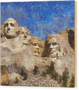 Mount Rushmore Monument Photo Art Wood Print