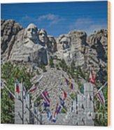 Mount Rushmore National Memorial Wood Print