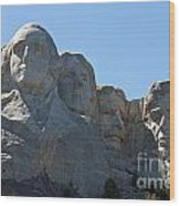 Mount Rushmore National Monument Wood Print