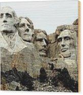 Mount Rushmore Presidents Wood Print