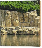 Mount Rushmore Wood Print by Ricky Barnard