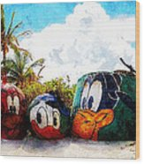 Mount Rustmore Castaway Cay Wood Print