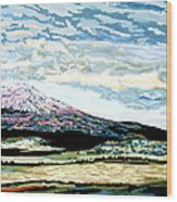 Mount Shasta California Wood Print