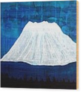Mount Shasta Original Painting Wood Print