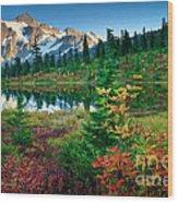 Mount Shuksan Fall Cornucopia Wood Print