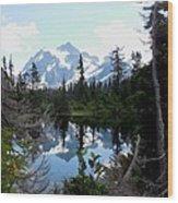 Mount Shuksan Reflection Wood Print