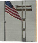 Mount Soledad Cross Wood Print