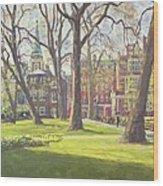 Mount Street Gardens, London Oil On Canvas Wood Print