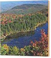 Mount Sunapee Lake Solitude Fall Foliage Wood Print