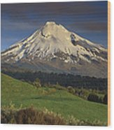 Mount Taranaki Western Flanks New Wood Print