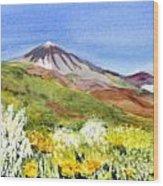 Mount Tiede In Tenerife Wood Print
