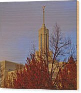 Mount Timpanogos Lds Temple Wood Print