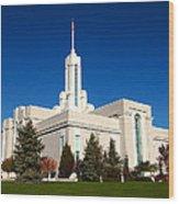 Mount Timpanogos Utah Temple Wood Print
