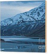 Mount Timpanogos Winter Evening Wood Print