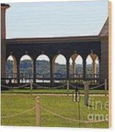 Mount Vernon Colonnade Wood Print