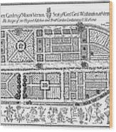 Mount Vernon: Garden Wood Print by Granger
