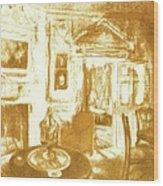 Mount Vernon In Golden Light Wood Print
