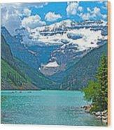 Mount Victoria Rises Above Lake Louise In Banff Np-alberta Wood Print