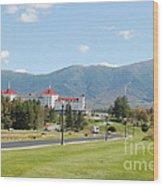 Mount Washington Hotel In New Hampshires White Mountains Wood Print