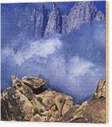 Mount Whitney Alabama Hills California Wood Print
