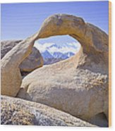 Mount Whitney Framed By The Mobius Arch Wood Print