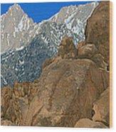 Mount Whitney, Lone Pine, California Wood Print
