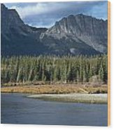 Mount Yamnuska Wood Print