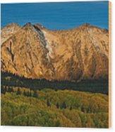 Mountain Autumn Sunrise Wood Print