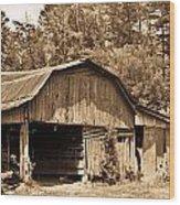 Mountain Barn 1 Wood Print