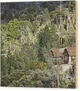 Mountain Cabin - Sierra Nevadas, California Usa Wood Print