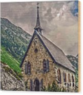 Mountain Chapel Wood Print