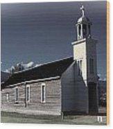 Mountain Church Wood Print