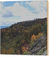Mountain Colors Wood Print by Judy  Waller