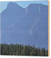 Mountain Contrasts Wood Print