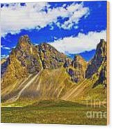 Mountain Crags Wood Print