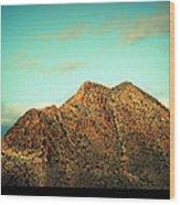 Mountain Face Wood Print