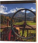 Mountain Farm View Wood Print