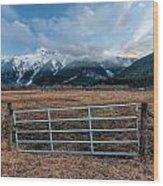 Mountain Farmers Wood Print