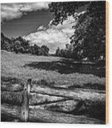 Mountain Field Wood Print
