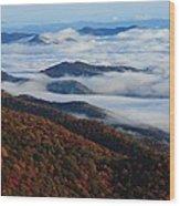 Mountain Fog - Blue Ridge Parkway Wood Print
