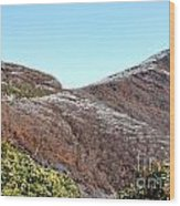 Mountain Frost Wood Print