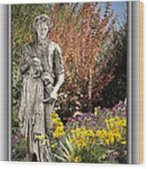 Mountain Gardener Wood Print