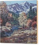 Mountain Glory Wood Print by W  Scott Fenton