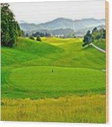 Mountain Golf Wood Print