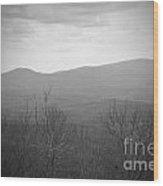 Mountain Grey Wood Print