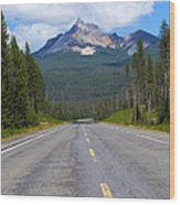 Mountain Highway Wood Print